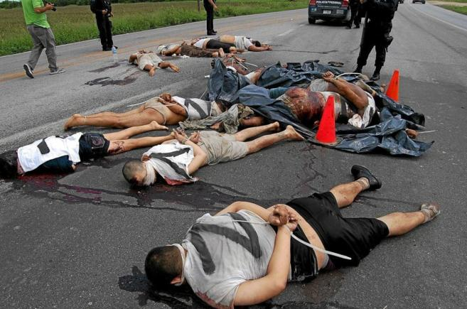 Cadáveres de 15 de los migrantes asesinados en San Fernando de...