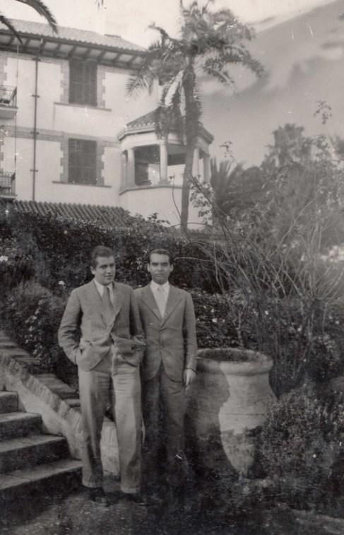Rafael y Federico durante una excursión al sur en 1935.