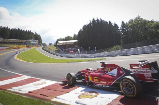 Fernando Alonso, durante el Gran Premio de Bélgica.