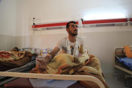 El joven Jaled Murad, superviviente de la masacre de Kocho.