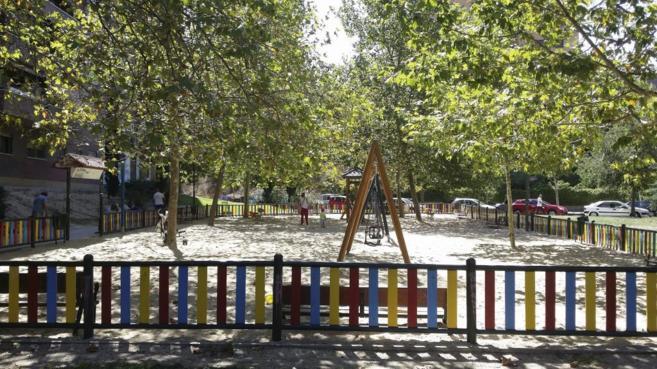 Parque de Hortaleza en el que fue secuestrada la menor el pasado...
