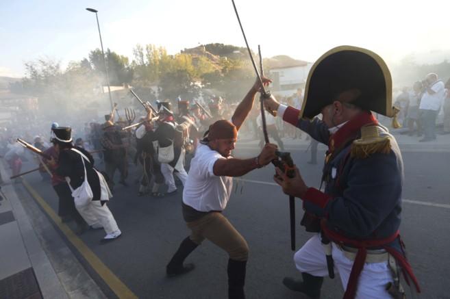 Instante de la recreación de la batalla de La Peza (Granada).