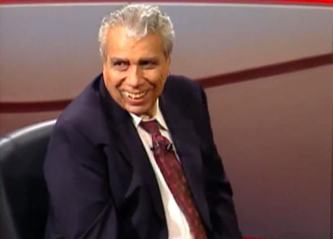 Antonio Ermirio de Moraes durante una entrevista en Roda Viva