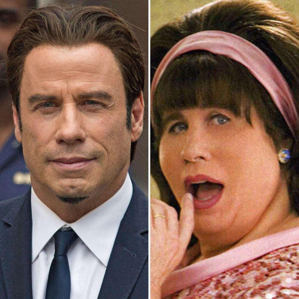 John Travolta (60). Por exigencias del guión, el actor se ponía un...