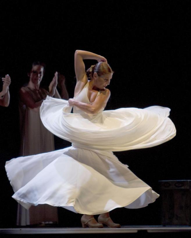 Sara Baras, en una reciente actuación