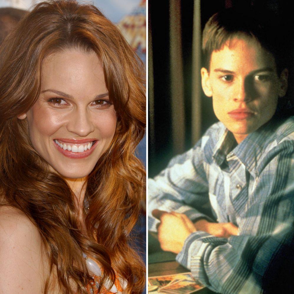 Hilary Swank (40).  Para interpretar Brandon, un adolescente...