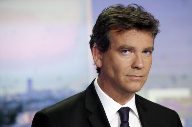 El ministro saliente, en un plató de televisión en París.
