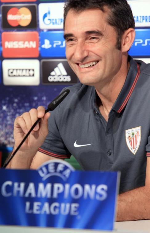 Valverde, durante la rueda de prensa previa al partido ante el...