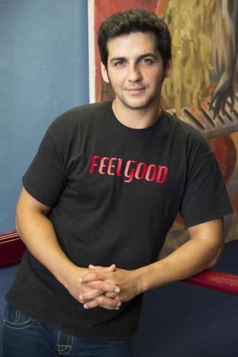 El actor Fran Perea, durante la presentación de FEELGOOD.