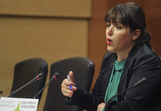 La portavoz de la Diputación de Gipuzkoa, Larraitz Ugarte.