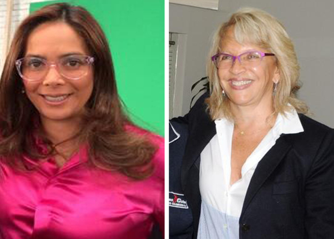 Gina Parody (izquierda) y Cecilia Álvarez (derecha).