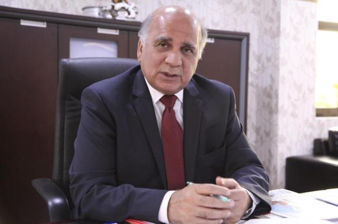 Fuad Hussein, portavoz de la presidencia kurda, en su despacho de...
