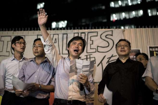 Los cabecillas del movimiento Occupy Central lanzan la campaña de...
