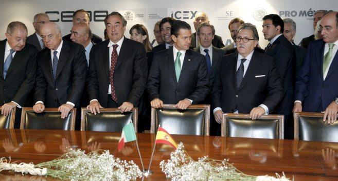 Peña Nieto, con empresarios, entre ellos los presidentes de Iberdrola...