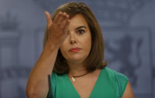 La vicepresidenta del Gobierno en la rueda de prensa del Consejo de...