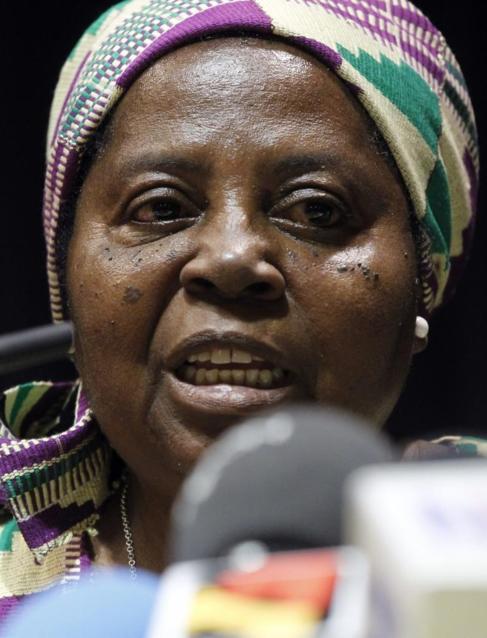 La hermana Juliana Bonoha Bohe, en rueda de prensa tras haber sido...