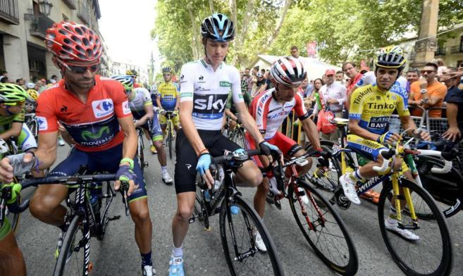 Cuatro de los grandes favoritos a ganar el maillot rojo de la Vuelta a...