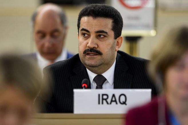 Mohammed Shia al-Sudani, ministro de Derechos Humanos iraquí, en...
