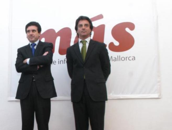 El ex presidente balear Jaume Matas junto a Rodrigo de Santos.