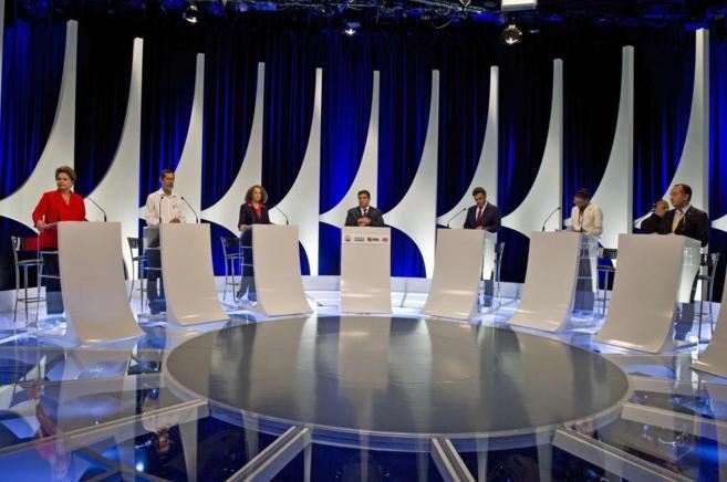 Plató de televisión donde se ha celebrado el segundo debate...