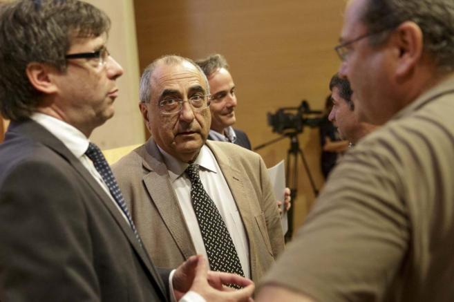 El ex conseller Joaquim Nadal en un acto de la Taula Ciutadana pel...