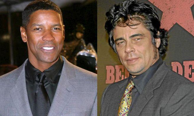 Denzel Washington (dcha.) y Benicio del Toro serán los protagonistas...