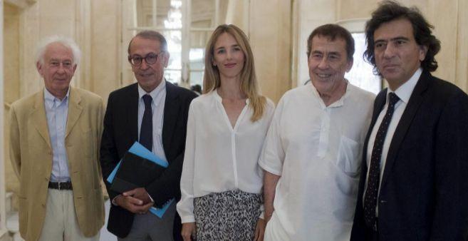 De izq. a dcha: Boadella, Redondo, Álvarez de Toledo, Sánchez Dragó...