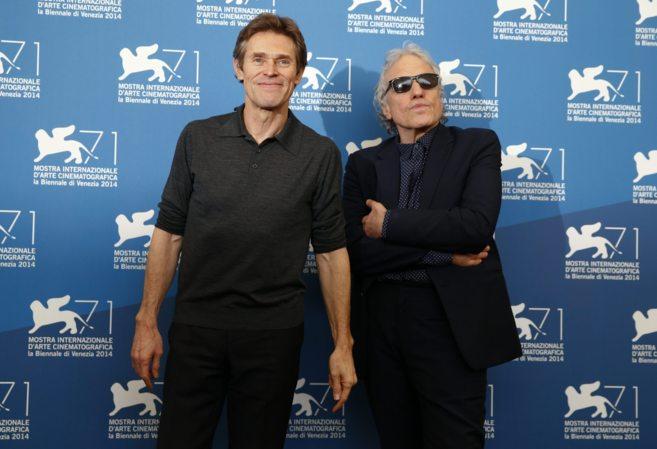 El actor Willem Dafoe junto a Abel Ferrara, realizador de...