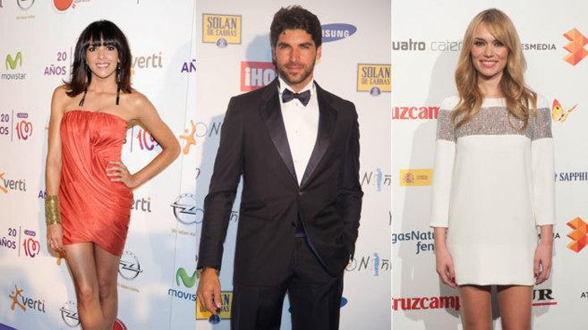 Raquel del Rosario (i), Cayetano Rivera (c) y Patricia Conde (d)...
