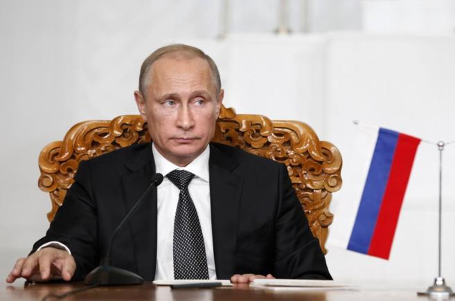 El presidente ruso, Vladimir Putin, en Ulan Bator, durante su visita a...