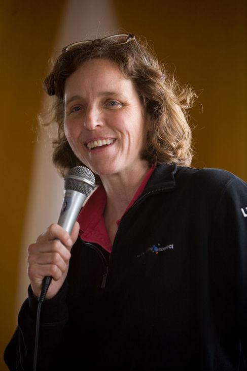 Megan Smith, en una conferencia en Menorca en 2008