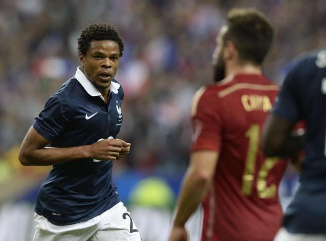 Loic Remy celebra el gol francés ante Carvajal.