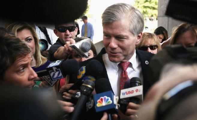 El ex gobernador de Virginia, hoy a su llegada al tribunal que lo ha...