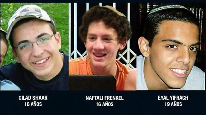 Imagen de los adolescentes asesinados en Cisjordania el pasado junio.