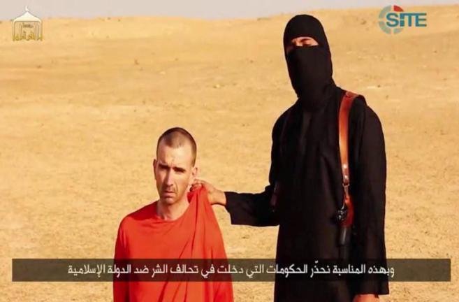 Fotograma del vídeo en el que el IS hace pública su amenaza sobre...