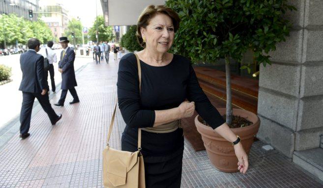 Magdalena Álvarez tras anunciar su dimisión como vicepresidenta del...