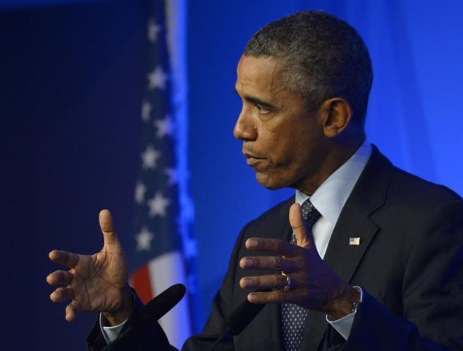 El presidente de Estados Unidos, Barack Obama, durante una conferencia...