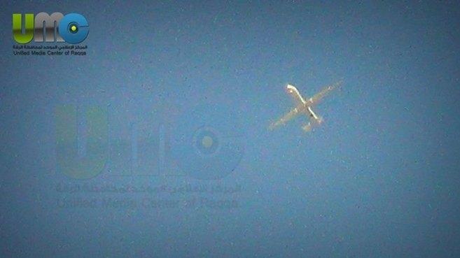 Fotografías del dron sobre cielo sirio.
