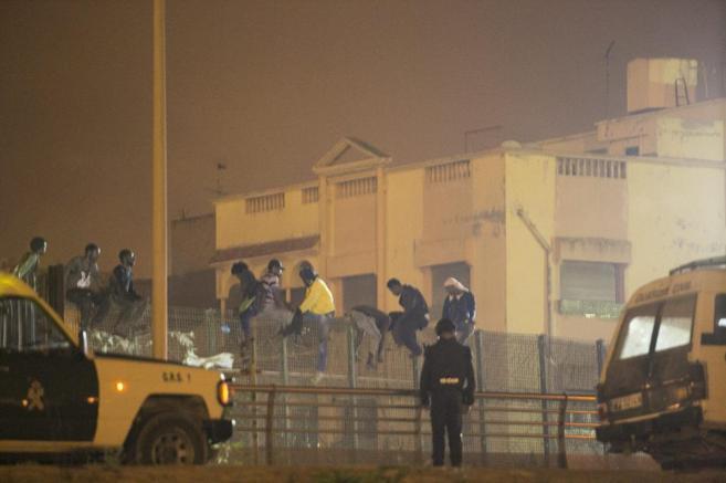 Intento de entrada masivo el pasado 30 de agosto en Melilla.