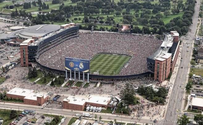 El Madrid-Manchester disputado en Michigan, albergó a casi 110.000...