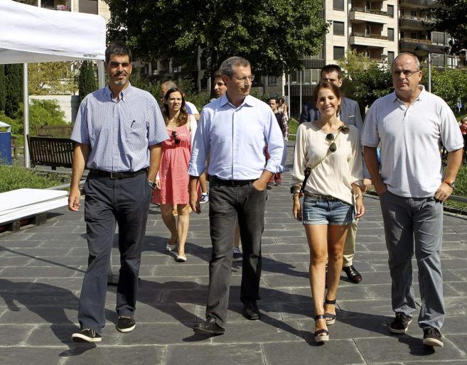 Markel Olano, Eneko Goia, Bakartxo Tejería, y Joseba Egibar.