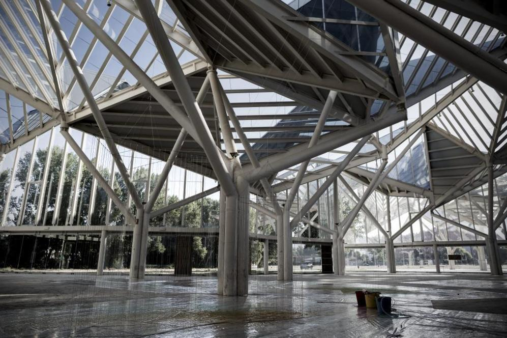 Imagen interior del Bosque de Acero de Cuenca, del estudio Moneo...