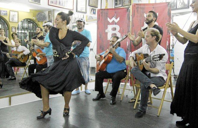 Pastora Galván, en el ensayo del espectáculo...