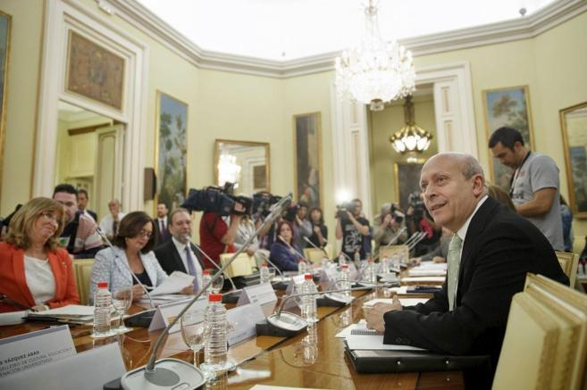 José Ignacio Wert en una reunión de la Conferencia Sectorial de...