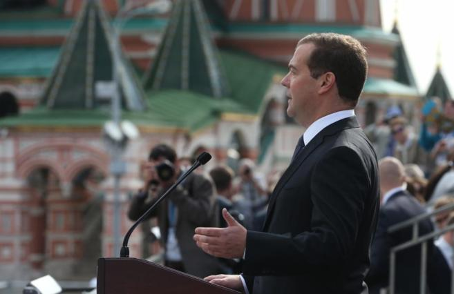 El primer ministro ruso, Dimitri Medvedev.
