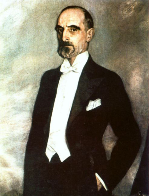 Retrato del político catalán Francesc Cambó.