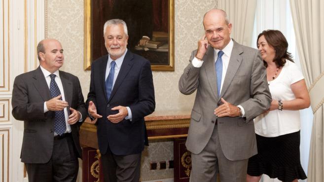 Gaspar Zarrías, José Antonio Griñán, Manuel Chaves y Mar Moreno.