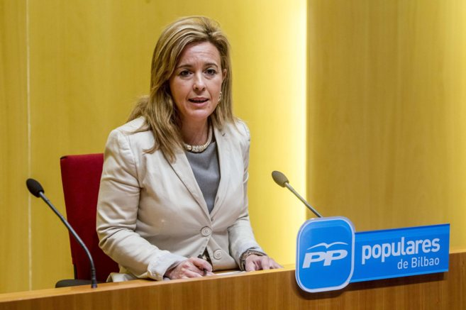 La portavoz del PP en el Ayuntamiento de Bilbao, Cristina Ruiz.