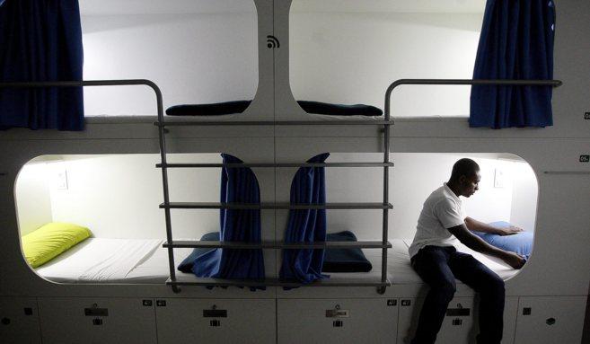 Imagen que ofrece el nuevo hostal 'a la japonesa' de...