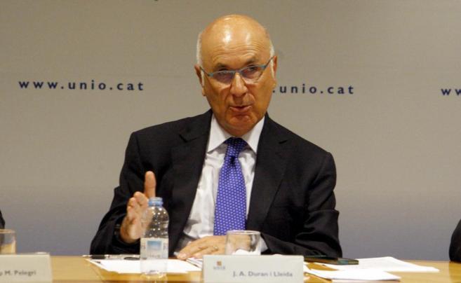 Duran Lleida en la reunión de la ejecutiva de Unió
